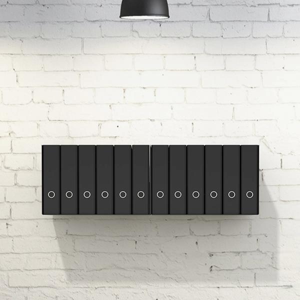 3 x ordnerregal aktenregal b rorregal aus metall in schwarz f r bis zu 42 ordner ebay. Black Bedroom Furniture Sets. Home Design Ideas