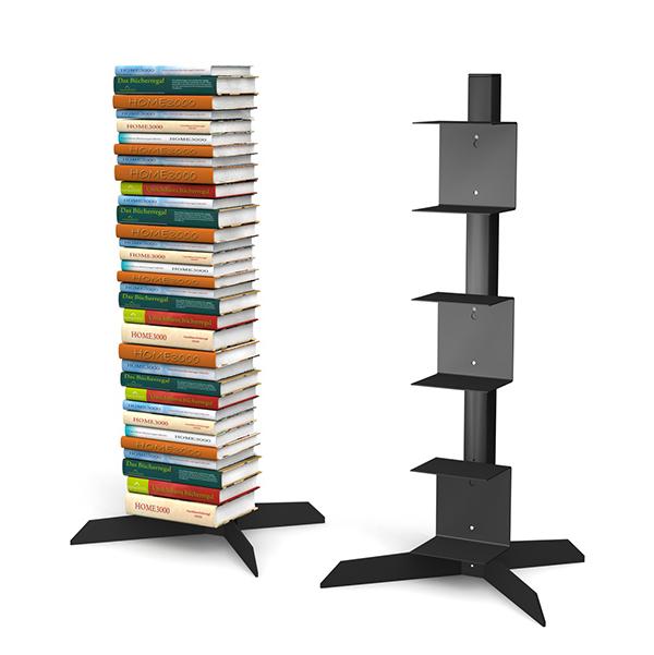 freistehendes b cherregal mit 3 unsichtbaren b cherregalen. Black Bedroom Furniture Sets. Home Design Ideas