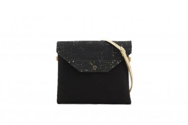 Marila Handtasche von Ulsto in schwarz-gold