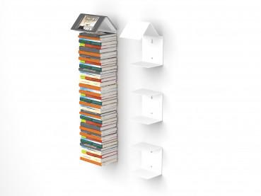 Bookmark Regal 3er-Set mit unsichtbaren Bücherregalen in weiss Bücherregal und Lesezeichen zugleich