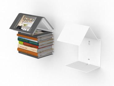 Bookmark Regal / unsichtbares Bücherregal in weiss Bücherregal und Lesezeichen zugleich