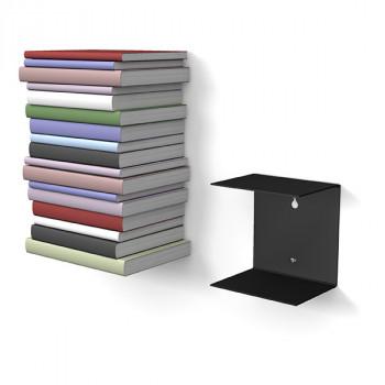 Unsichtbares Bücherregal 1er-Set klein in schwarz