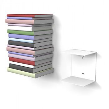 Unsichtbares Bücherregal 1er-Set klein in weiss