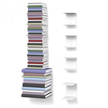 Unsichtbares Bücherregal 3-1er-Set variabel weiss