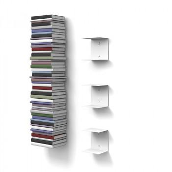 Unsichtbares Bücherregal 3er-Set klein in weiss