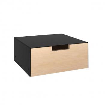 Q-Regal Schublade in schwarz mit Birke Multiplex / Designed by home3000