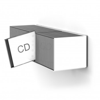 CD Designregal in Weiss