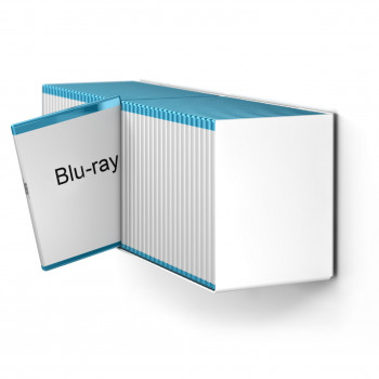 Blu-Ray Designregal in Weiß