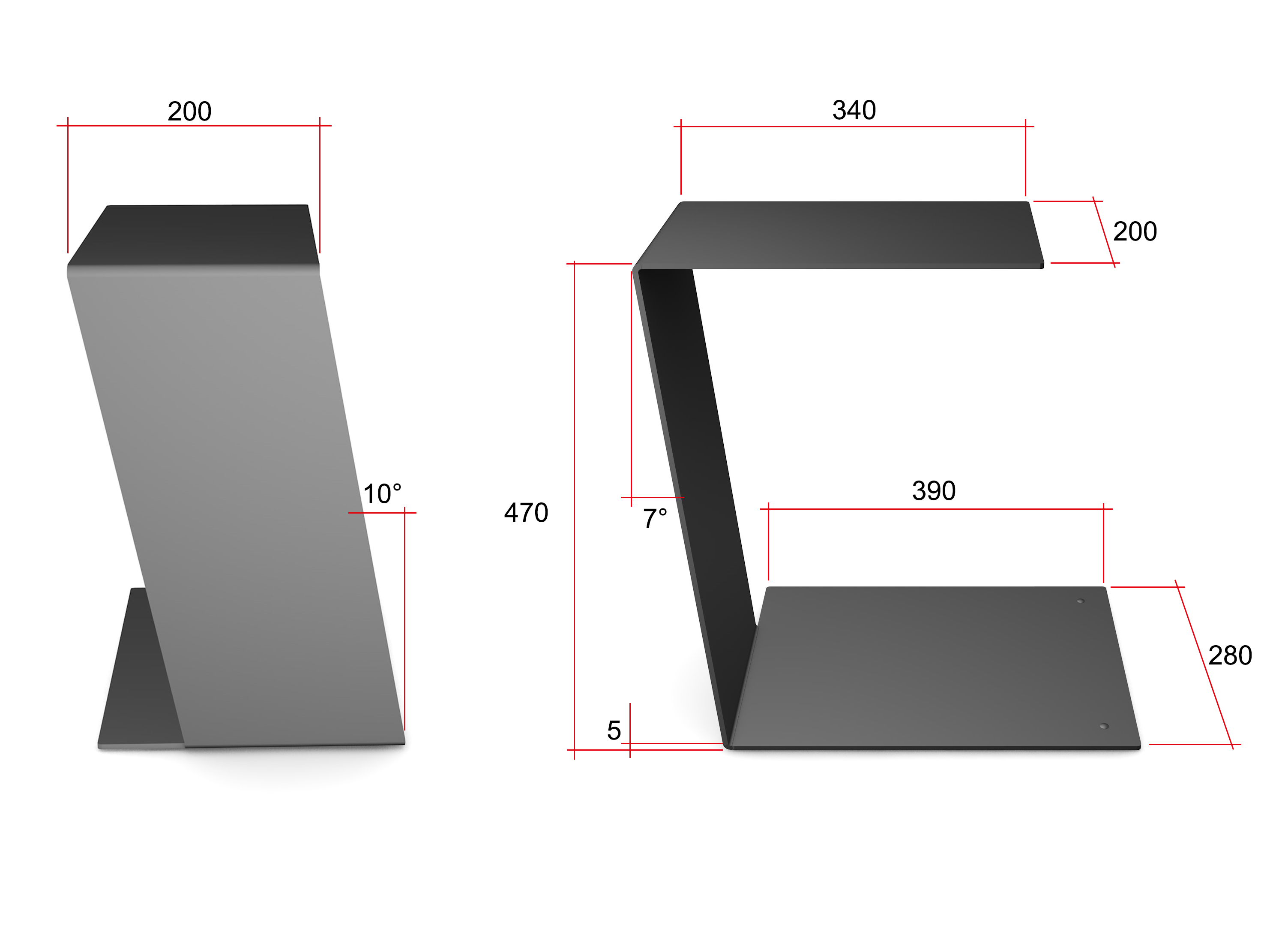 Home3000 beistelltisch ablage tisch design metall for Design artikel