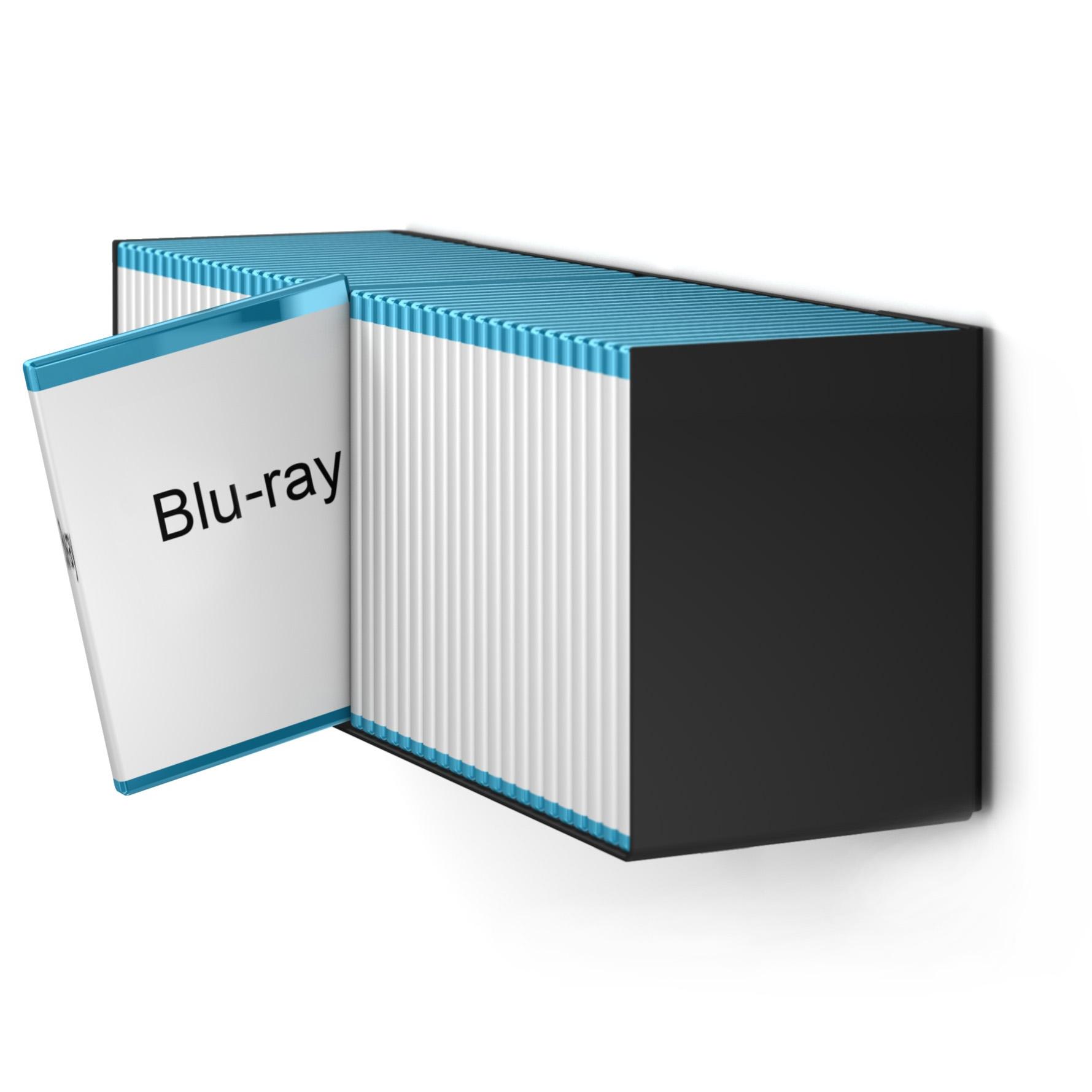 home3000 - Blu-Ray-Designregal in Schwarz
