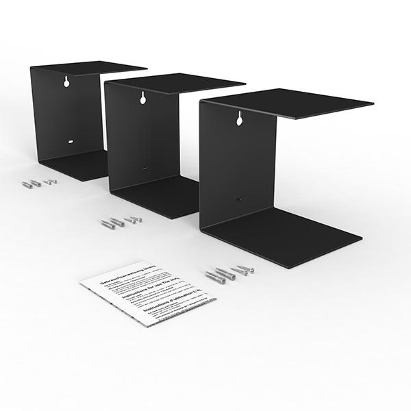 home3000 3er set gross schwarz. Black Bedroom Furniture Sets. Home Design Ideas