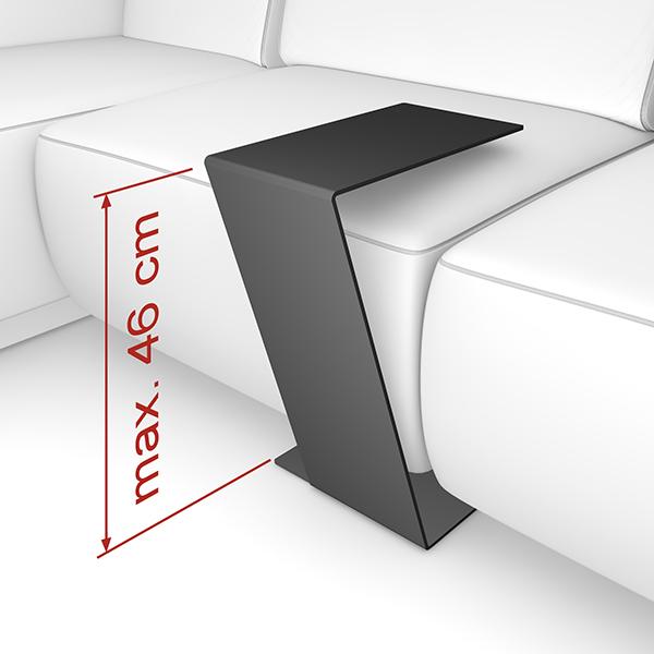 Home3000 beistelltisch ablage tisch design metall for Beistelltisch design schwarz