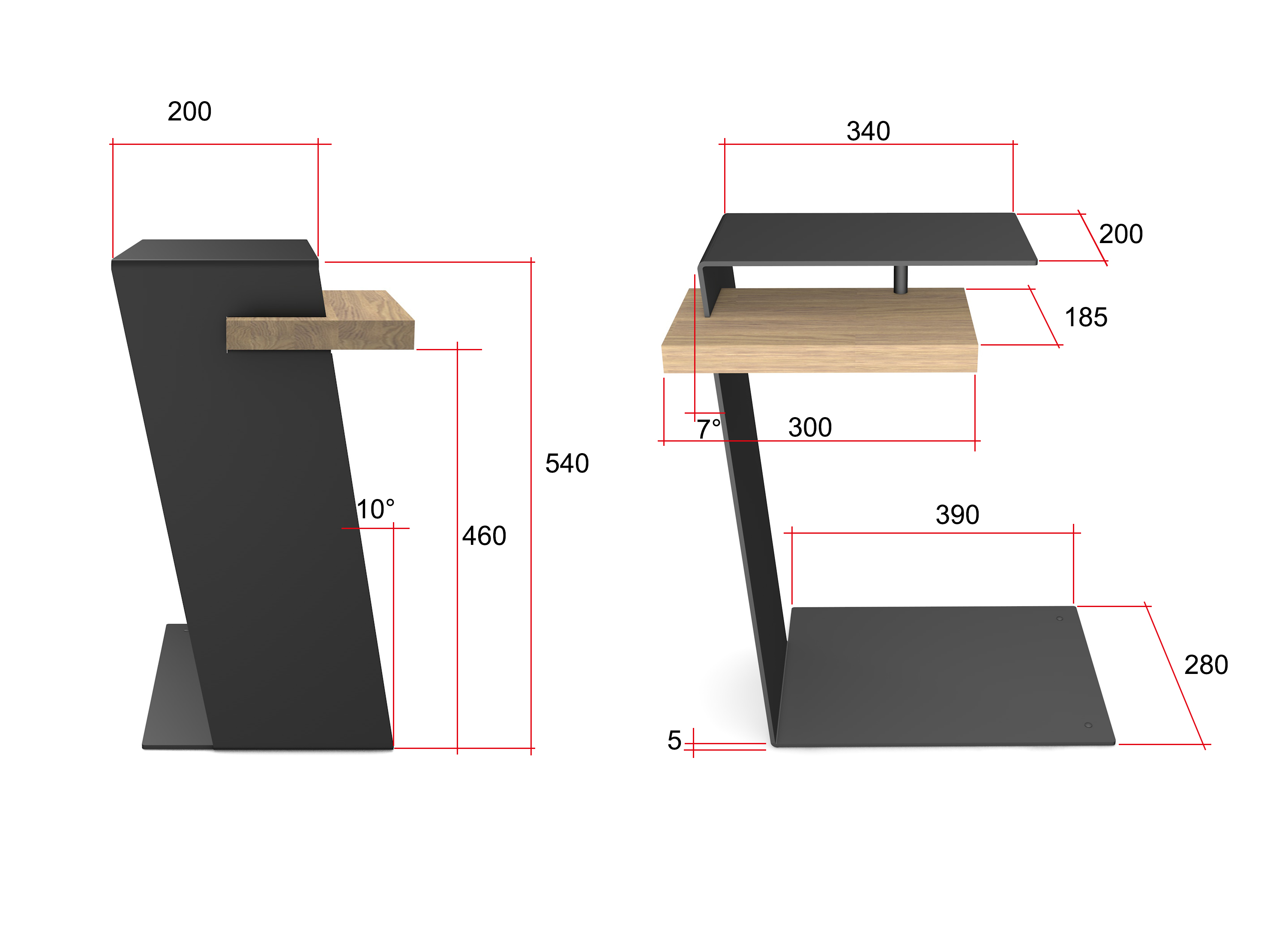 Home3000 Beistelltisch Metalltisch Design Beistelltisch