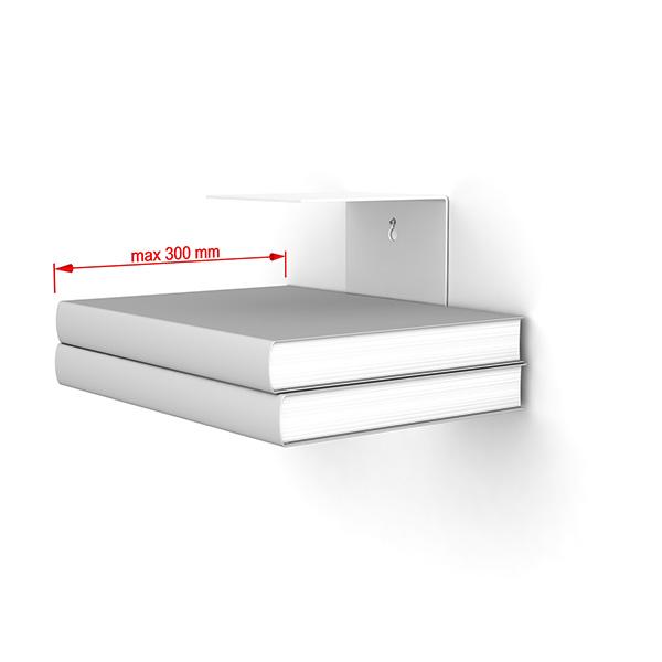home3000 unsichtbares b cherregal 1er set gross in weiss. Black Bedroom Furniture Sets. Home Design Ideas