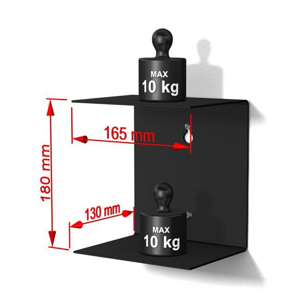 Metallregal schwarz klein  home3000 - 1er-Set klein schwarz