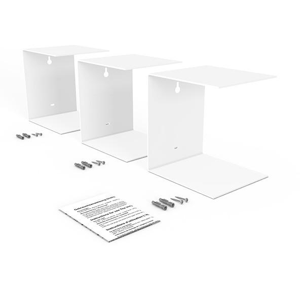 home3000 unsichtbares b cherregal 3er set gross in weiss. Black Bedroom Furniture Sets. Home Design Ideas